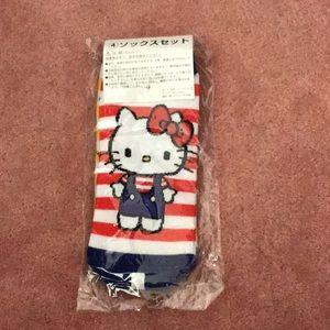 Sanrio hello kitty 2 pairs of socks women's